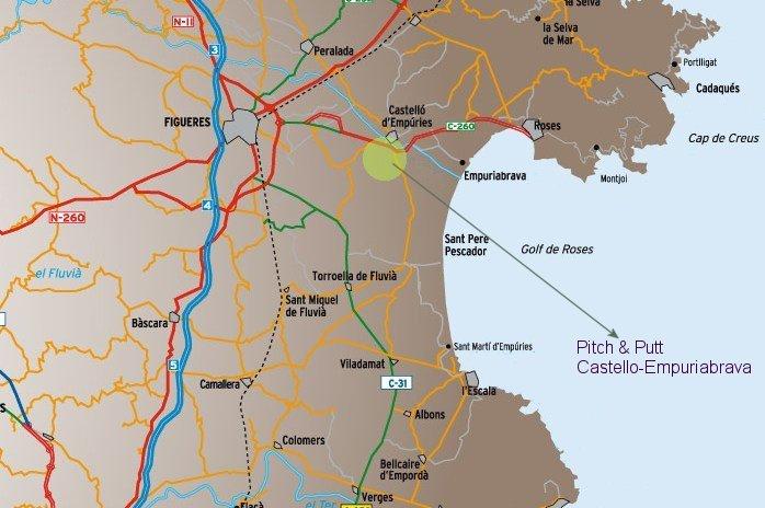 Mapa Pitch & Putt Castelló-Empuriabrava